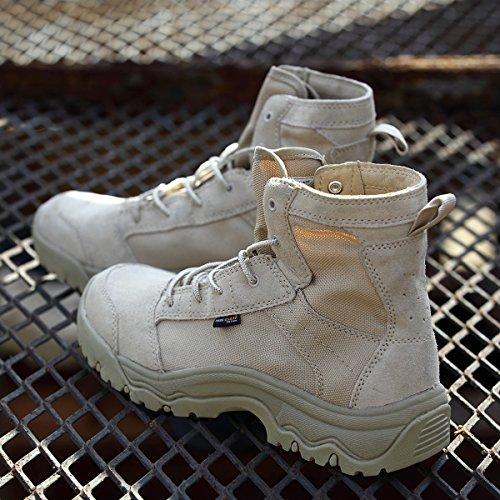 Gratis Soldaat Heren Lichtgewicht Tactische Laarzen Duurzame, Ademende Schoen Voor Wandelen Met Woestijn Zandkleur