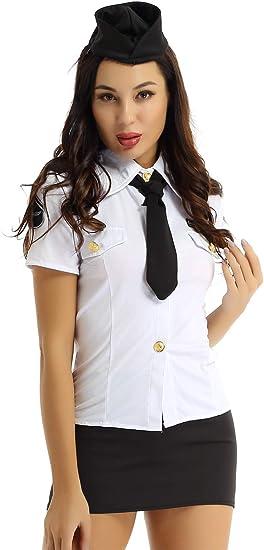 YiZYiF Disfraz Policía Sexy Mujer Uniforme Policía Adultos Traje A ...