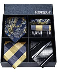 Lot 3 PCS Classic Men's Silk Tie Set Necktie & Pocket Square - Multiple Sets