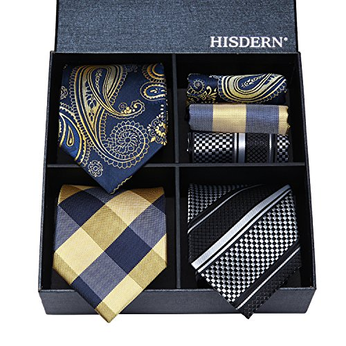 HISDERN Lot 3 PCS Classic Men's ...
