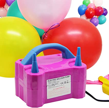 herramienta inflable de pl/ástico para Navidad suministros de fiesta decoraci/ón y m/ás Tama/ño libre As the Picture Inflador de globos bomba de aire /útil boda