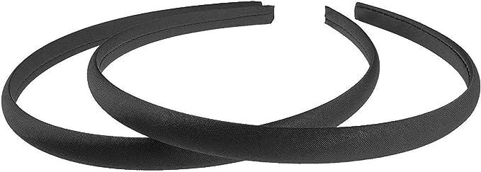 Mytoptrendz® Set Of 2 Plain Thin Satin Headbands Alice Hairband ((Black): Amazon.co.uk: Beauty