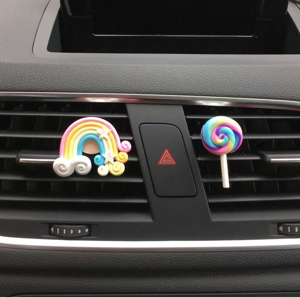 Ambientador Coche, Lindo Arcoiris Lollipop Clip De Ventilación ...