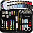SEWING KIT, Over 130 DIY Premium Sewing Supplies, Mini sewing kit, 38 Spools of Thread - 20 Most Useful Colors & 18 Multi Colors, Extra 40 quality sewing pins, Travel, kids, Beginners