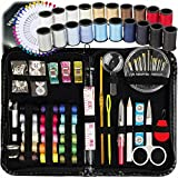Arts & Crafts : SEWING KIT, Over 130 DIY Premium Sewing Supplies, Mini sewing kit, 38 Spools of Thread - 20 Most Useful Colors & 18 Multi Colors, Extra 40 quality sewing pins, Travel, kids, Beginners