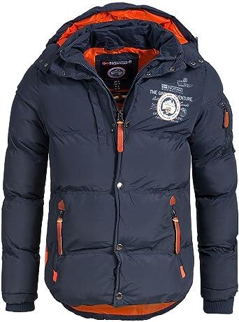 Oferta amazon: Geographical Norway - Chaqueta acolchada de invierno para hombre, con capucha Talla M