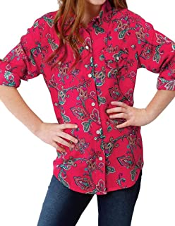 Roper Apparel Boys WSL Boys Plaid L//S Snap Shirt L Multi