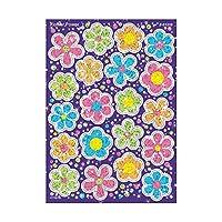 Trend Enterprises Inc. Flower Power Sparkle Stickers-Large, 40 ct