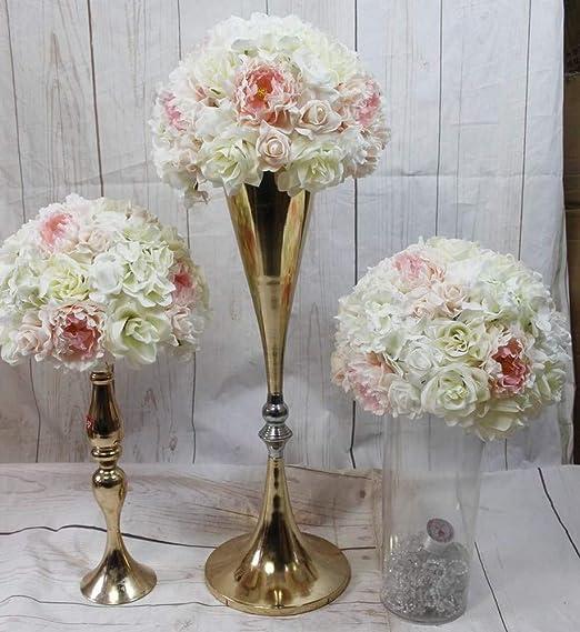 AKJC - Cabezales de flores artificiales para boda, centro de mesa ...