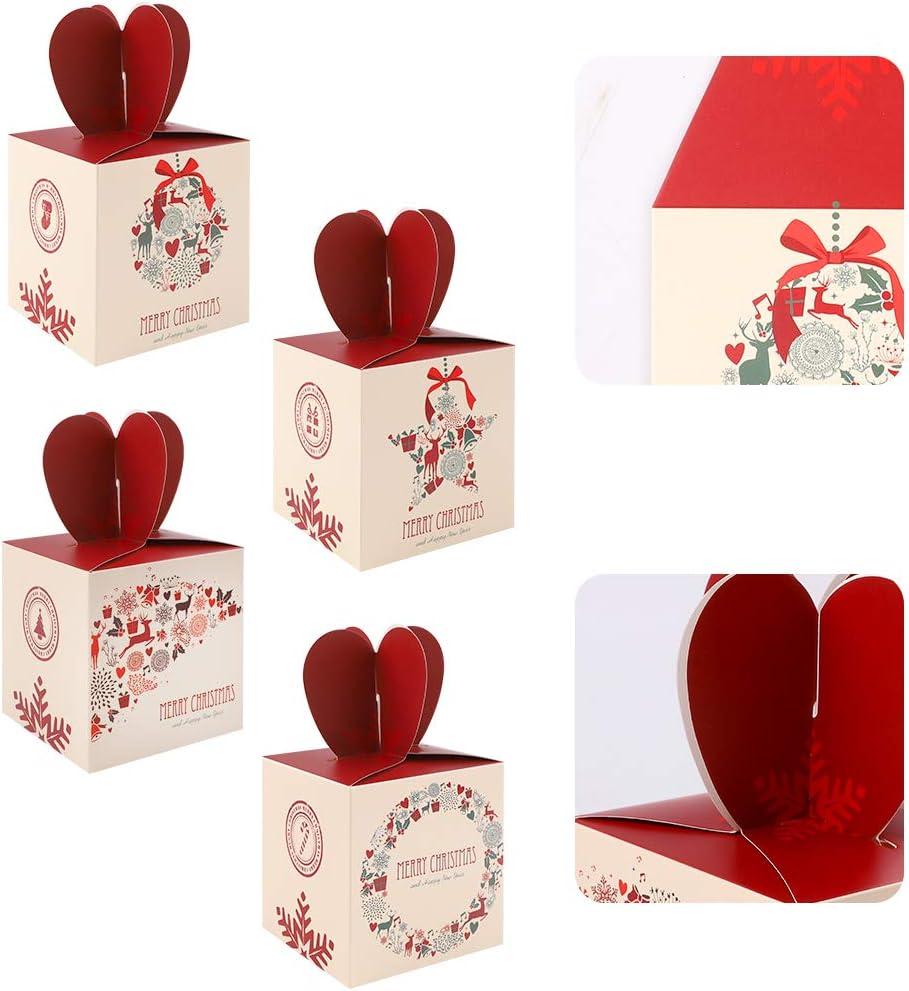 Geschenkboxen set weihnachten24 St/ück karton Deko Pl/ätzchen Geschenkbox Papier DIY faltboxen Geschenk Kuchen Boxen Dekorative Leckereien Boxen Hochzeitsbevorzugung Party Dessert Cookie Xmas Taschen