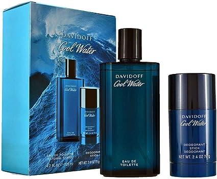Estuche Davidoff Cool Water Hombre Perfume EDT 125 ml + Desodorante Stick 75 ml Hombre GIOSAL: Amazon.es: Belleza