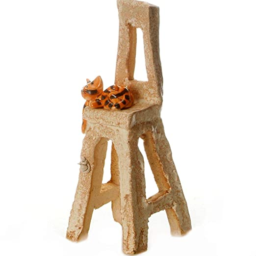 Mesa metálica de flores de Metal con figura de gato de pie de ...