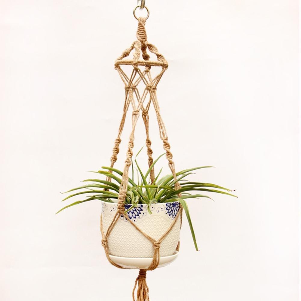 Luckybaby Accesorios para el hogar y el jard/ín macetas Colgantes cestas para Plantas para Colgar Plantas Maceta Colgante de Cuerda de c/á/ñamo tama/ño Grande