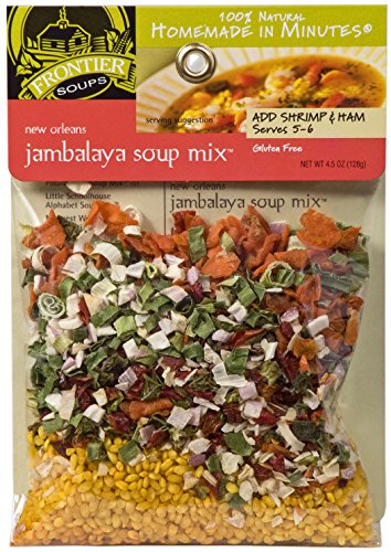 Jambalaya Soup - Frontier Soups Homemade In Minutes Soup Mix, New Orleans Jambalaya, 4.5 Ounce