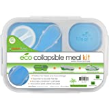 Smart Planet, Recipiente para Lunch Colapsable EC-34 Large, 3 Compartimentos, Azul