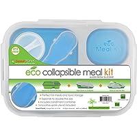 Smart Planet, Recipiente para Lunch Colapsable EC-34 Large, 3 Compartimentos, Azul