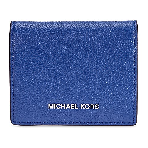 Michael Kors Mercer Flap Card Holder - Electric Blue (Flap Card Holder Womens)
