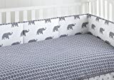 Levtex Home Baby Malawi Navy Elephants 4 Piece Crib Bumper Set