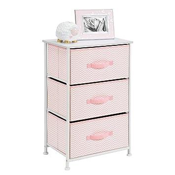 mDesign Cómoda de tela – Práctico organizador de armarios con 3 cajones – Sistema de almacenamiento para el dormitorio, el apartamento o habitaciones ...