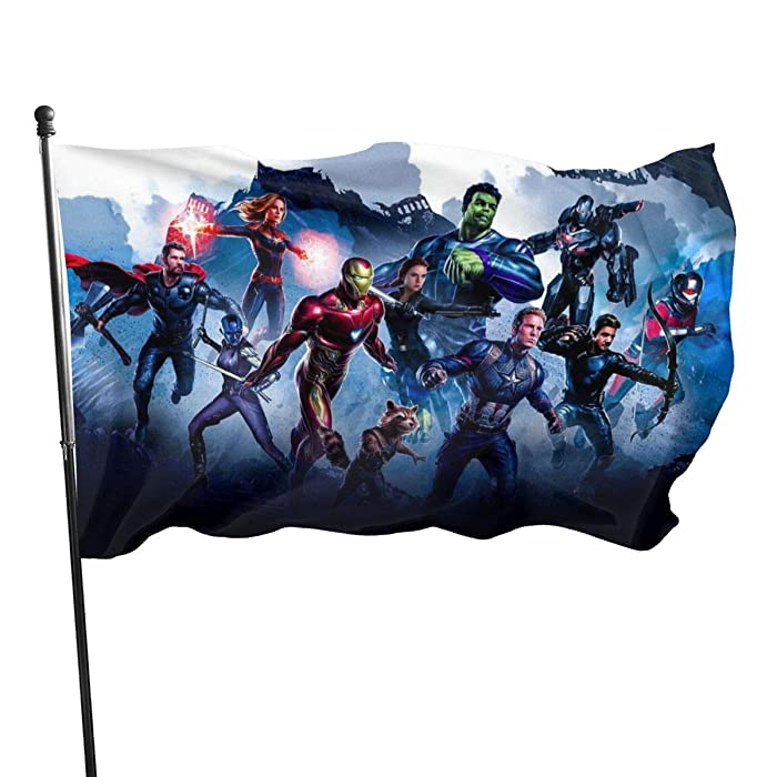 Olicsley The Avengers Flag 3x5 Ft,Decorative Outdoors Anti UV Fading Indoors Flags Seasonal and Holiday Yard Flag Banner Polyester 3x5 Foot