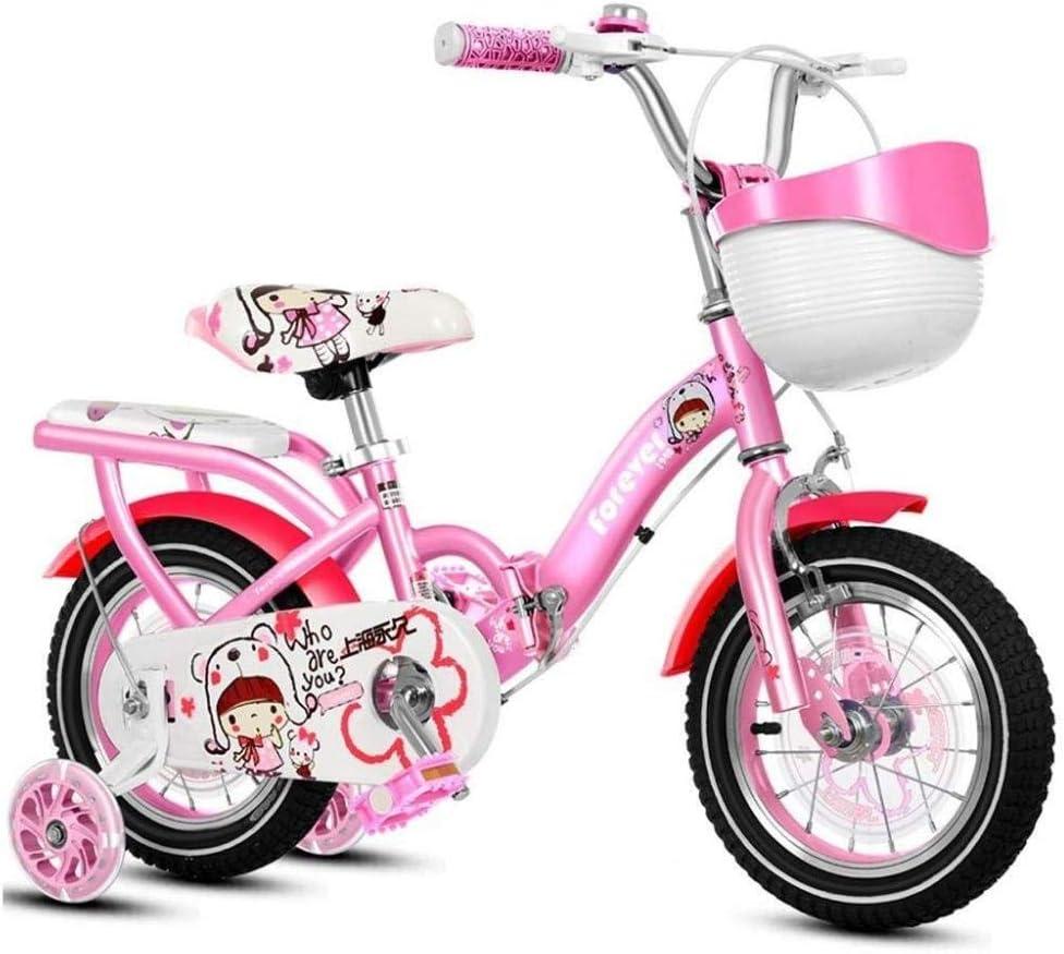 FesiAq Bicicleta para niños Bicicleta para niños Bicicleta para niña Morada Tamaño de Bicicleta 12 14 16 18 con estabilizador y Canasta Bicicleta para niña Estilo Libre