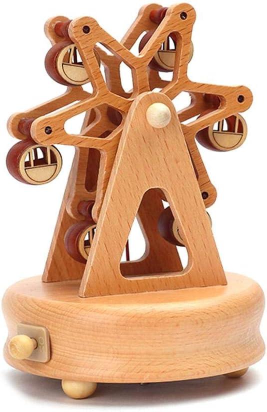 Navigatee H/ölzerne Spieluhr Nettes Kindergeburtstagsgeschenk Spieluhr Riesenrad und Zug Classic Stunning