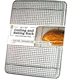 100% Stainless Steel Cooling Rack for Baking fits Jelly Roll Pan - 10