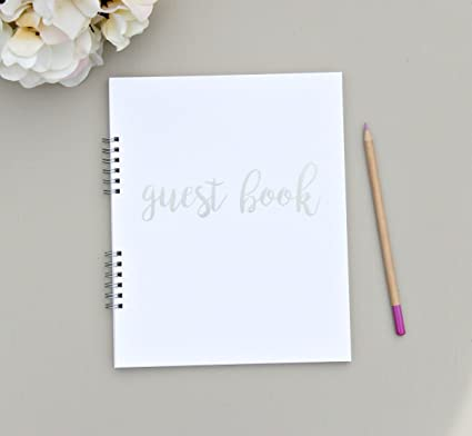 amazon com flat lay spiral elegant photo guest book birthday guest