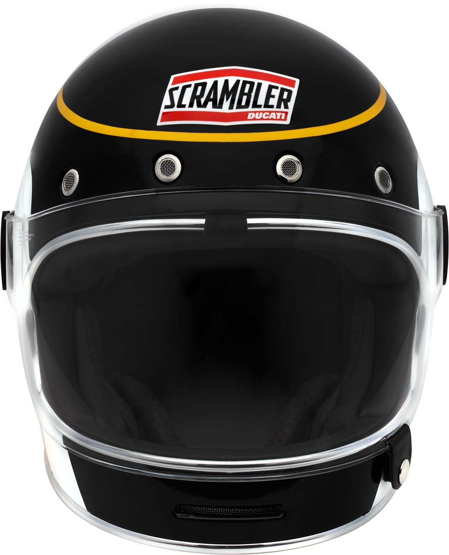 Amazon.com: Ducati Scrambler Black Track Bell Bullitt Helmet (Medium): Automotive