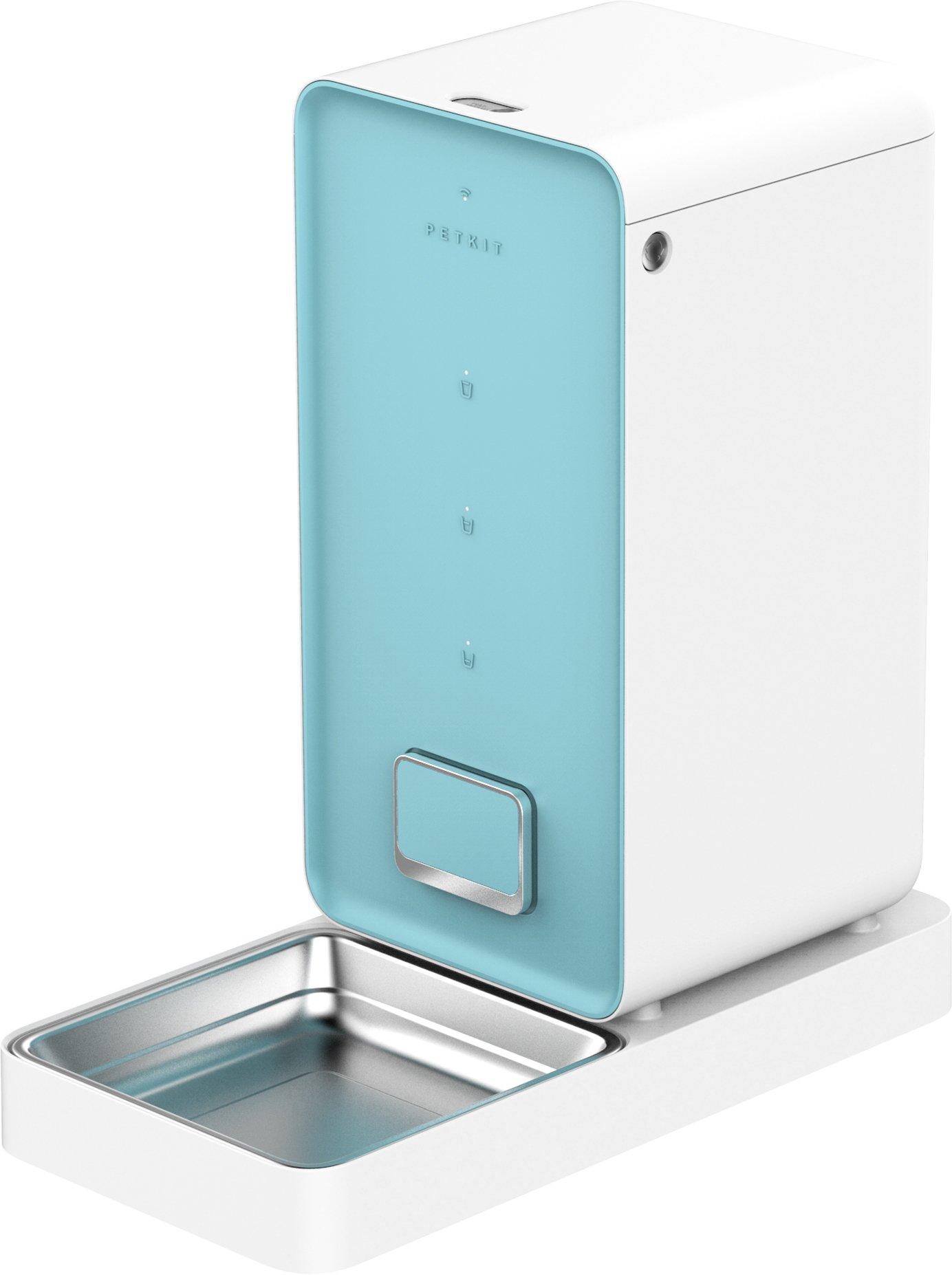 PETKIT ELE1WH Element Smart Pet Food Feeder Pet Remote Feeder, Blue, One Size
