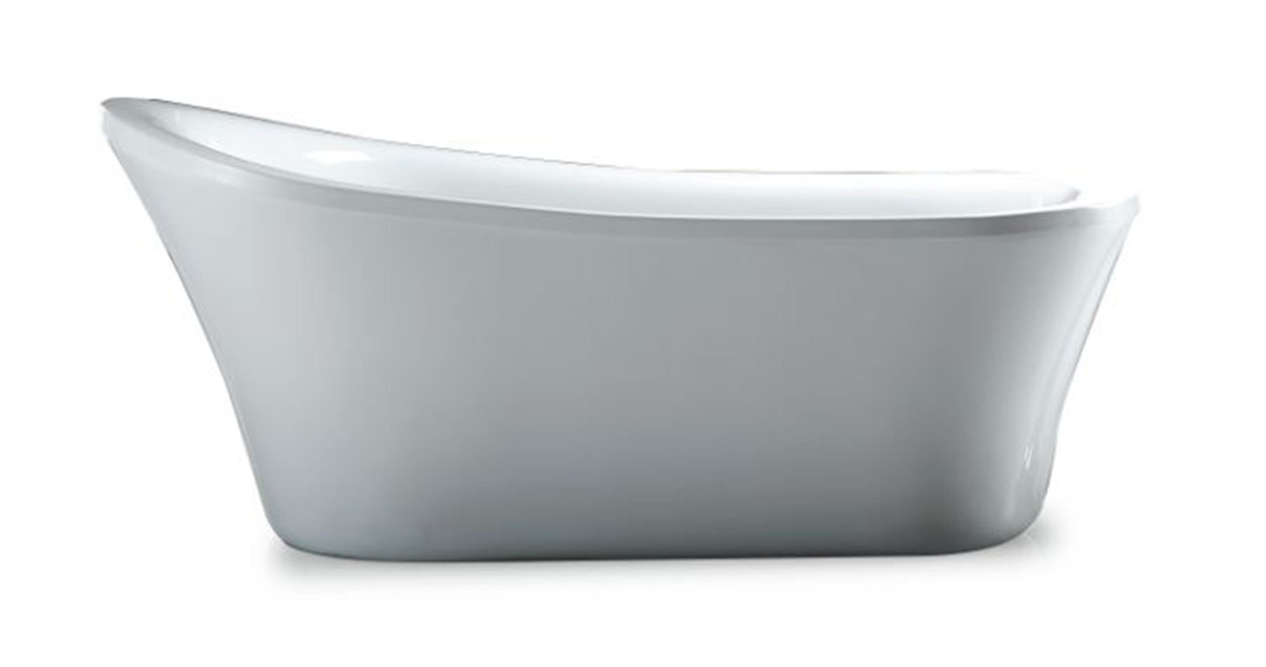 Ove Decors Rachel 70-Inch Freestanding Acrylic Bathtub, Pure white by Ove Decors