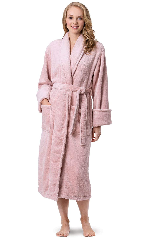 PajamaGram Fleece Robes for Women - Plush Bath Robe Womens at Amazon  Women s Clothing store  06bf3b387