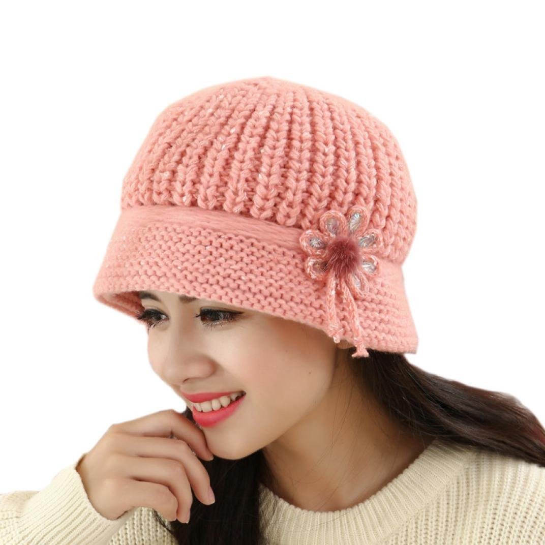 TREESTAR Knitting Wind Resistance Warm In Winter Fluff Fashion Skiing Ladies Outdoors Insulation Hat 1PCS 26x16cm //10.2x6.3 in elastic