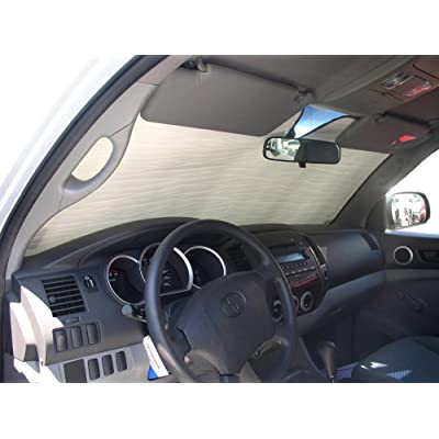HeatShield, The Original Windshield Sun Shade, Custom-Fit for Toyota Tacoma Truck 2005-2015, Silver Series: Automotive