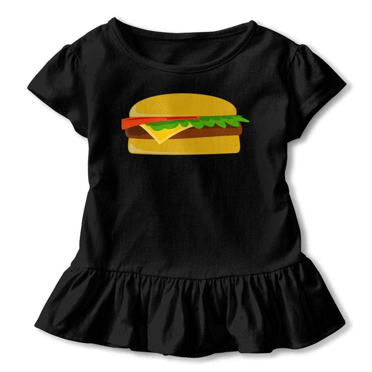 JVNSS Just Great Burgers Shirt Cartoon Infant Girl Flounced T Shirts Shirt Dress for 2-6T Baby Girls
