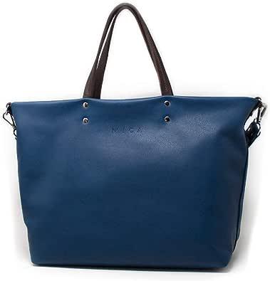 MICA Gouges Bolso Tipo Tote para Mujer Bolso Shopper de Piel 44 x 30 x 15(cm) Bolso Grande de hombro Cuero Natural…