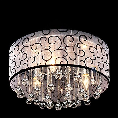 DINGGU™ 4 Lights Flush Mounted Modern Drum Ceiling Light Chandelier Lamp Fixtures Rain Drop Decoration by DINGGU (Image #4)