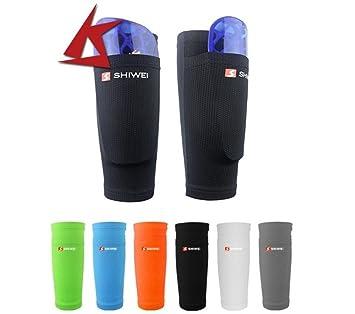 Espinilleras para las piernas de fútbol, almohadillas de doble capa fija, para adultos y
