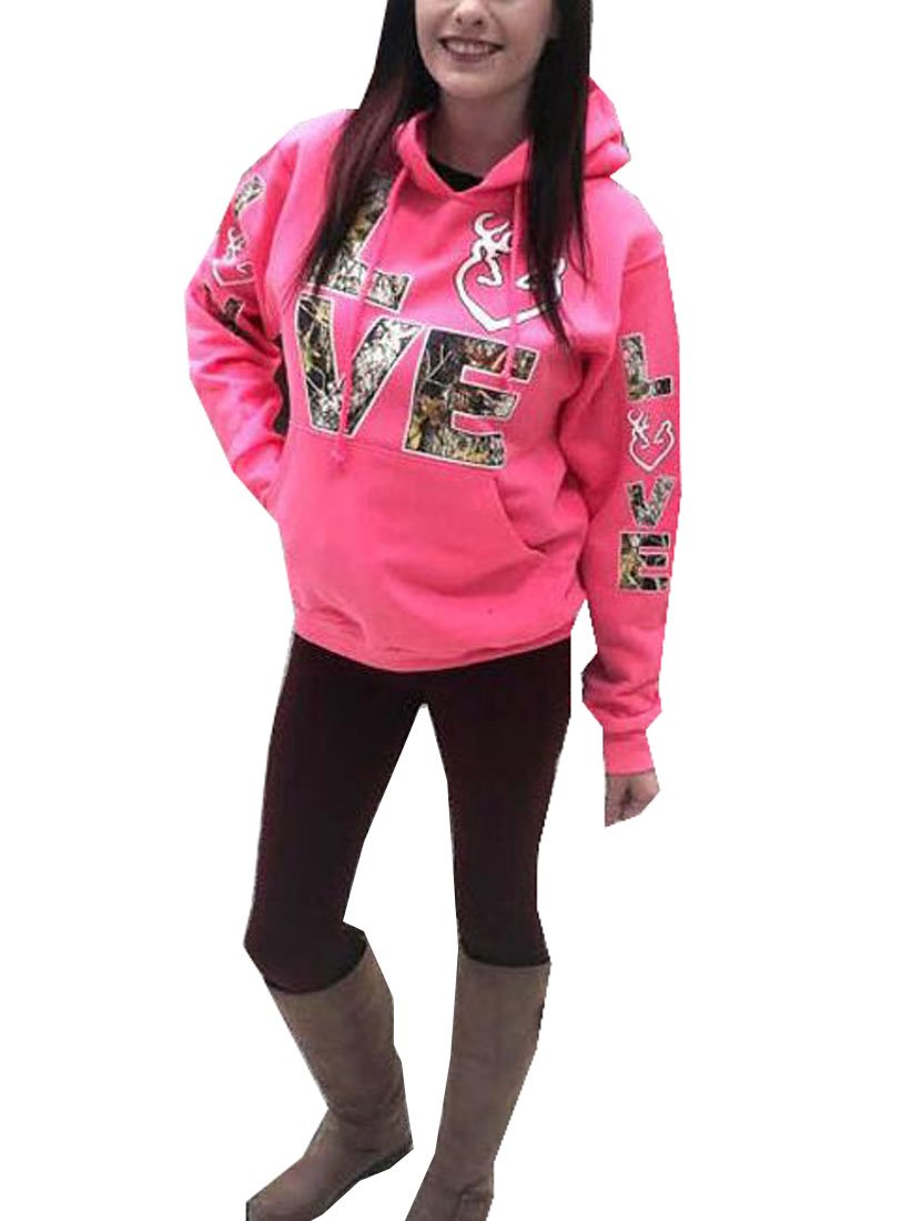 Womens Active Hoodies, Love Printed Casual Hooded Sweatshirts