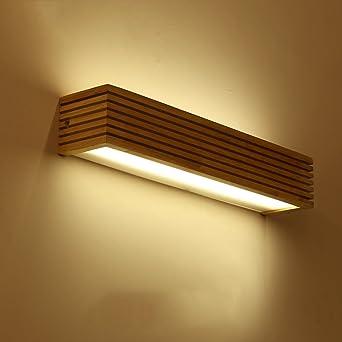 LED-Spiegel-Wandleuchte Japanisch-Stil LED Massivholz ...