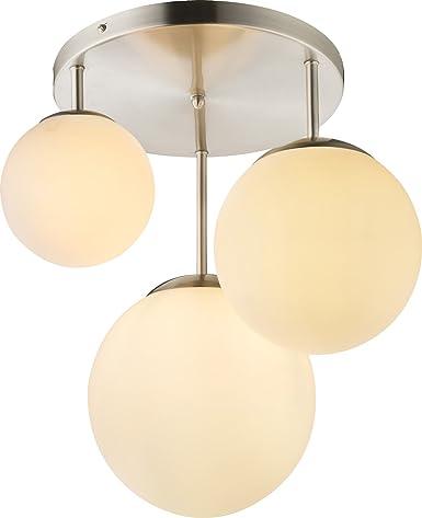 Lampadario a sospensione con 3 sfere vetro lampadario lampada a ...