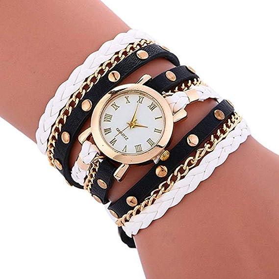 Relojes de Pulsera para Mujer Liquidación Relojes de señora Relojes Femeninos de Cuero en Oferta Relojes (Rosa Caliente): Amazon.es: Relojes