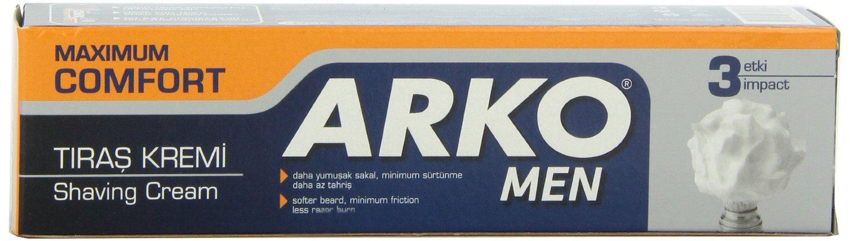 Arko Shaving Cream, Maximum Comfort, 6 Ounce C-107A