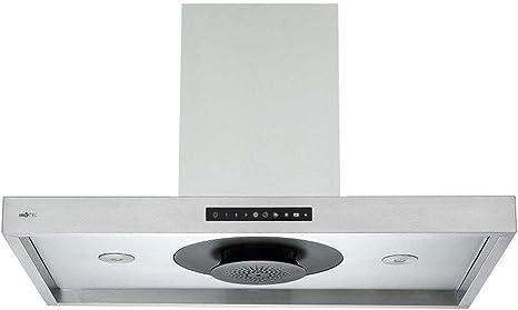 Invvitec - Campana extractora de aire (acero inoxidable, 90 cm de ancho, sistema Touch Eco-Jet): Amazon.es: Grandes electrodomésticos