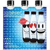 Sodastream 30000142 EMOJI Pack de 3 Bouteilles grand Plastique Bleu 26,5 x 9 x 26 cm