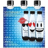sodastream 30000142 Pack de 3 Bouteilles Grand, Plastique, Bleu, 26,5 x 9 x 26 cm