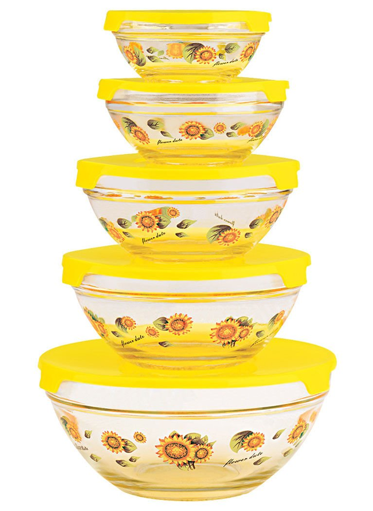 Glass Bowls with Lids by Imperial Fox Valley Traders MW1127