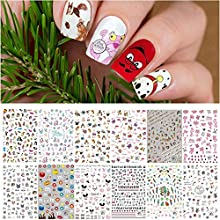 EBANKU 1000+ Patterns Animals Nail Art Decals Stickers for Kids, Cat Dog Rabbit Nail Stickers 3D Self-Adhesive Summer Nail Decals Wraps for Little Girls Kids Women