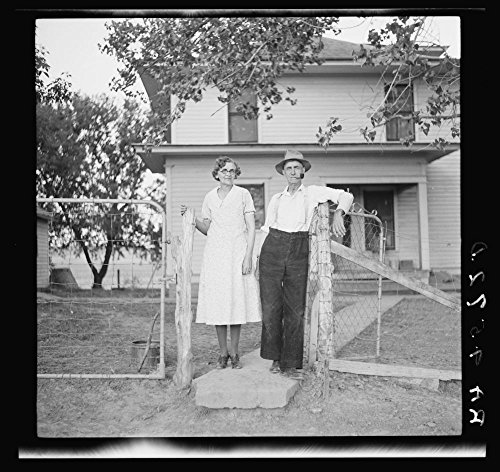 1936 Photo Rehabilitation client and wife. Custer County, Nebraska Location: Custer County, Nebraska