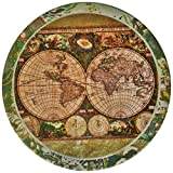 CoasterStone AS285 Absorbent Coasters, 4-1/4-Inch, 'Old World Maps', Set of 4